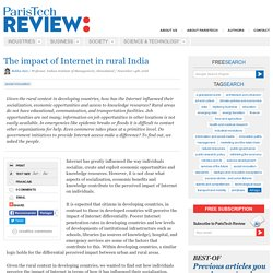 The impact of Internet in rural India