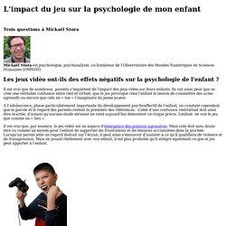 L'impact du jeu sur la psychologie de mon enfant
