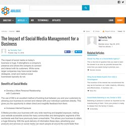 The Impact of Social Media Management for a Business