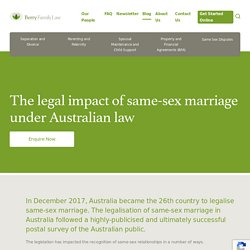 The legal impact of same-sex marriage under Australian law - Berry Family Law