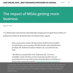 The impact of MGAs getting more business