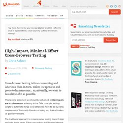 High-Impact, Minimal-Effort Cross-Browser Testing