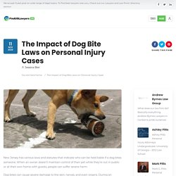 Impact of Dog Bite Laws on Personal Injury Cases