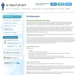 No Impact Project For Educators » No Impact Project