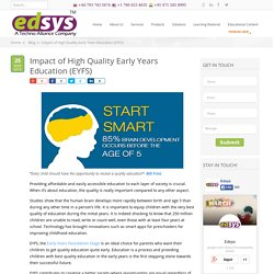 Impact of High Quality Early Years Education (EYFS)
