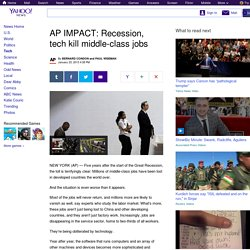 AP IMPACT: Recession, tech kill middle-class jobs