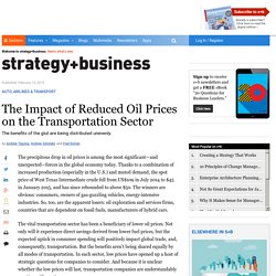 The Impact of Reduced Oil Prices on the Transportation Sector