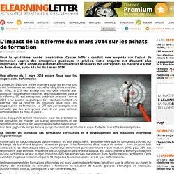 L'impact de la Réforme du 5 mars 2014 sur les achats de formation