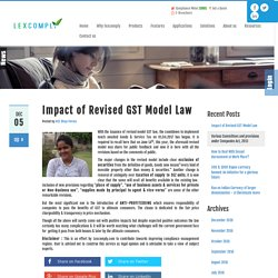 Impact of Revised GST Model Law
