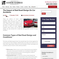 Impact of Bad Road Design On Car Accidents