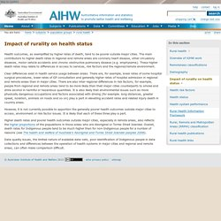 Impact of rurality on health status