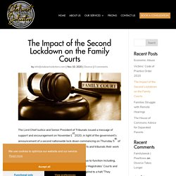 The Impact of the Second Lockdown on the Family Courts