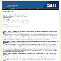 Impact Studies - SLIM - CISSL