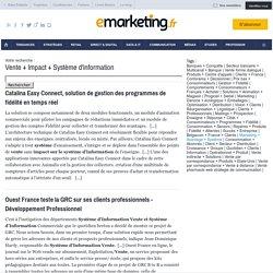 Vente + Impact + Système d'information