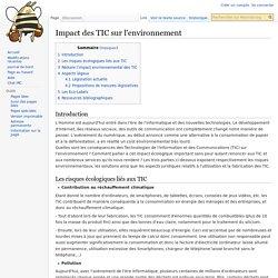 Impact des TIC sur l'environnement