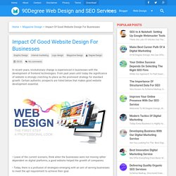Impact Of Good Website Design For Businesses