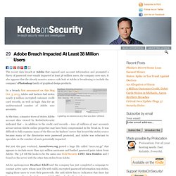 Adobe Breach Impacted At Least 38 Million Users