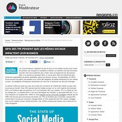 88% des TPE pensent que les médias sociaux impactent leur business