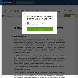 EL IMPACTO DE LAS REDES SOCIALES EN LA GESTIÓN