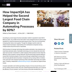 How ImpactQA has Helped the Second Largest Food Chain Company in Automating Processes by 60%? - ImpactQA