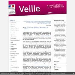 MAAF/CEP 17/11/16 Les impacts de l'agriculture de précision en débat : Veille Prospective & Evaluation