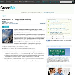 The Impacts of Energy-Smart Buildings