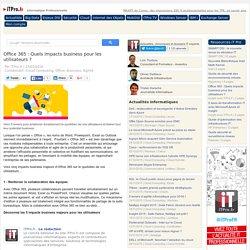 Office 365 : Quels impacts business pour les utilisateurs