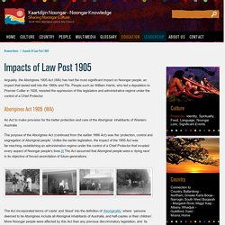 Impacts of Law Post 1905