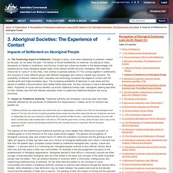 Impacts of Settlement on Aboriginal People
