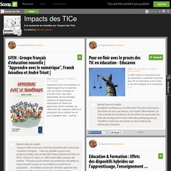 Impacts des TICe