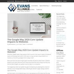 The Google May 2020 Core Update Impacts to Websites