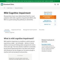 Mild Cognitive Impairment: Symptoms, Causes, Treatments & Tests