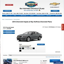 Get 2016 Chevrolet Impala - Performance Meets Sophistication
