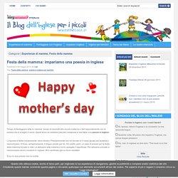 Festa della mamma: impariamo una poesia in inglese