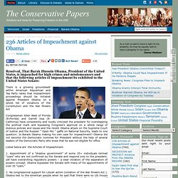 One Hundred Articles of Impeachment against Obama