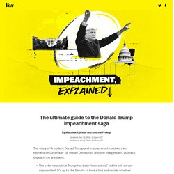 The impeachment of Donald Trump, explained