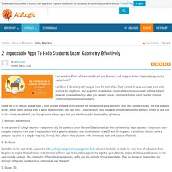 2 Impeccable Apps To Help Students Learn Geometry Effectively