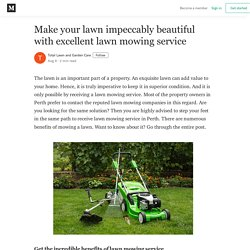 Make your lawn impeccably beautiful with excellent lawn mowing service