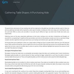 Gathering Table Shapes: A Purchasing Aide