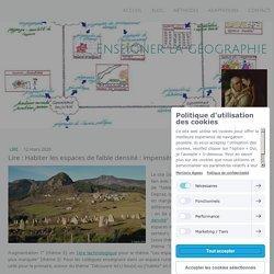 Lire : Habiter les espaces de faible densité : impensés et richesse des « vides » - Site de enseigner-la-geographie !