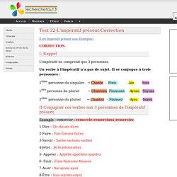 Test 32-L'impératif présent-Correction