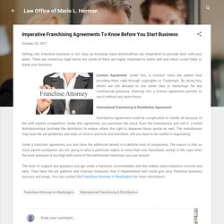 Imperative Franchising Agreements To Know Before You Start Business