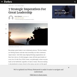 7 Strategic Imperatives For Great Leadership
