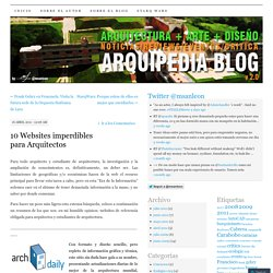 10 Websites imperdibles para Arquitectos