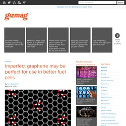 Imperfect graphene may be perfect for use in better fuel cells