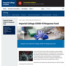 Imperial College COVID-19 Response Fund