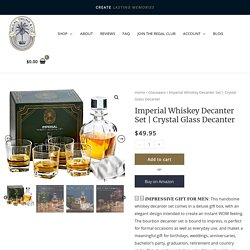 Crystal Glass Decanter - Regal Trunk
