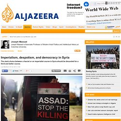 Imperialism, despotism, and democracy in Syria