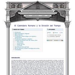 El Calendario Romano y la Division del Tiempo