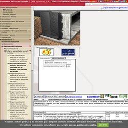 Precio en España de m² de Impermeabilización exterior de muro en contacto con el terreno, con láminas asfálticas. Generador de precios de la construcción. CYPE Ingenieros, S.A.